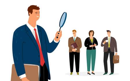 Man search employee concept