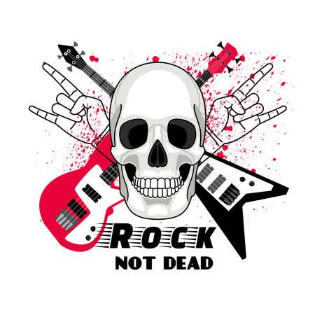 Rock festival sticker Vettoriali