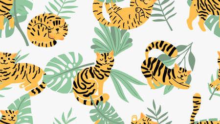 Jungle cats pattern