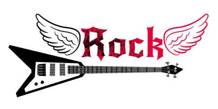Black electric guitar Vettoriali