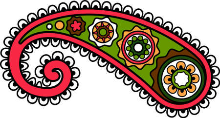 East Indian or Turkish paisley ornament element