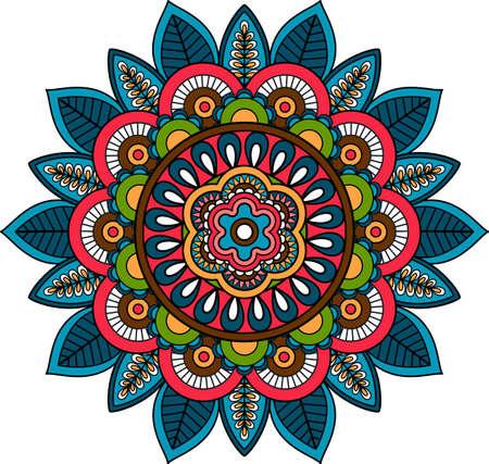 Floral Ornamental Mandala design indian round pattern element