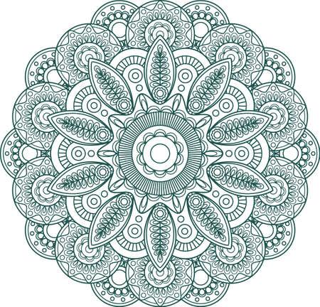 Hand drawn Mandala. Arabic, indian, islam and ottoman culture decoration Ethnic geometric Round Ornament