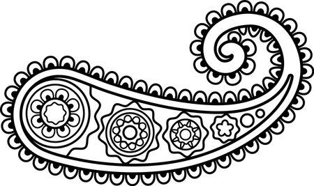 Paisley flower, Boho Design Ethnic Folklore Floral Ornamental