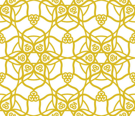 Arabic muslim golden pattern with ramadan islam floral motif Vettoriali