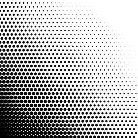 Halftone dots gradient fade digital monochrome pattern