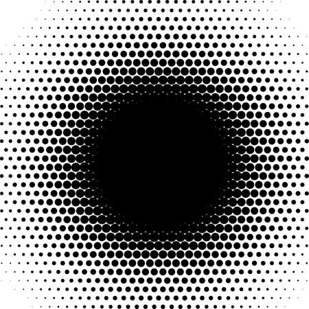 Radial Halftone pattern circles fade round matrix point burst gradient