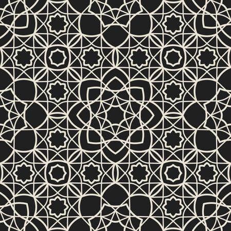 Ornamental arabic muslim seamless pattern islam line texture