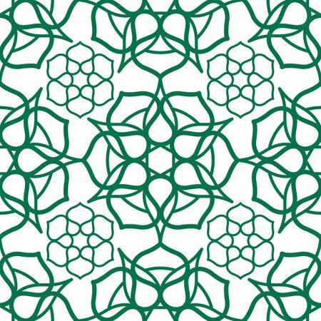 Seamless pattern with traditional Oriental Arabic Muslim ornament Vettoriali