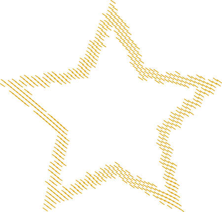 star shape stitched patch frame embroidery seam
