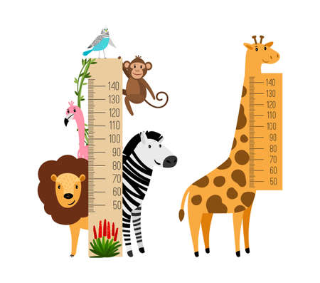 Measure growth kids with animals