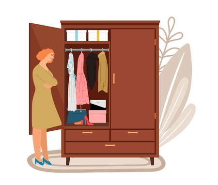 Woman and open wardrope
