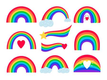 Cartoon rainbow stripes Vettoriali