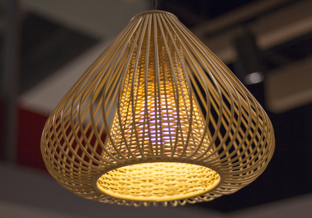 Stylish lamps on the ceiling
