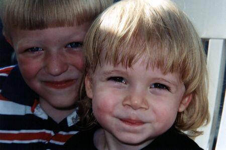 Portrait of two boys. Stock Photo