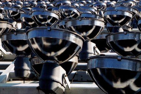 Dismantled stadium lights from Veterans Stadium in Philadelphia, PA.