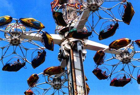 Amusement ride high in the sky. Фото со стока