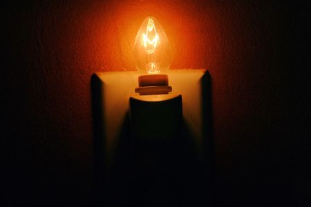 Nightlight as only source of light.