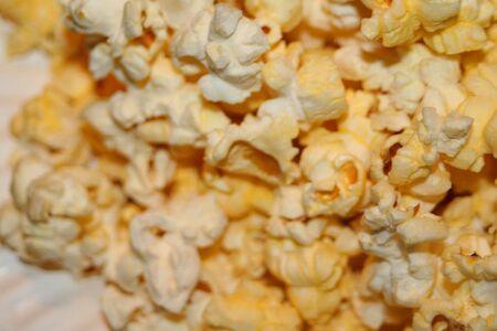 White and yellow popcorn.
