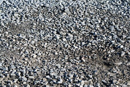 ground cover: Gravel ground cover. Stock Photo