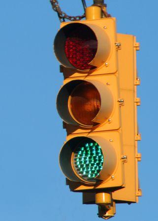 traffic signal: Feu vert.  Banque d'images