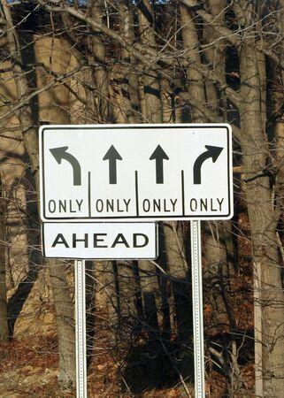 LaneTurn Direction Sign