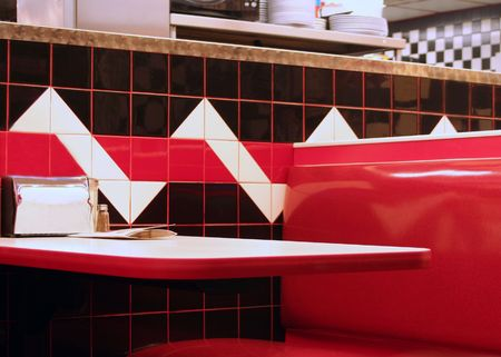 Booth in a diner. Stock Photo - 444863