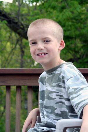 Smiling portrait of a boy. Stock Photo