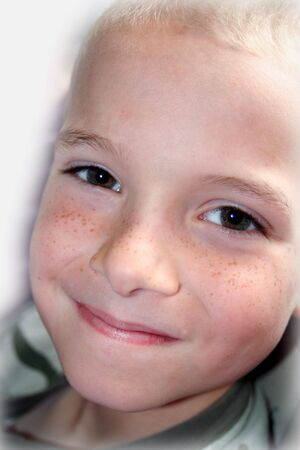 Boy with smiling face.  Isolated.