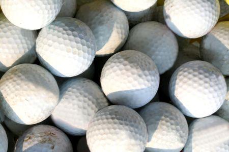 hollows: Golf balls Stock Photo