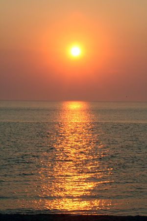 Summer sunset in Cape May, New Jersey, vertical.