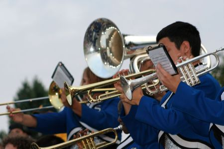 tuba: Marching Band In The Stands