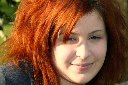 Portrait of contemporary teenage girl.