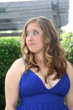Pensive Prom Girl in Profile Stock Photo - 7914509
