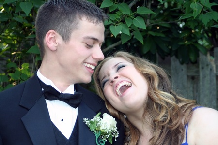 Prom Couple Sharing A Laugh