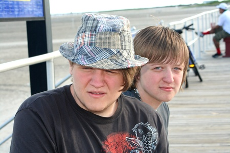 Teen Brothers on Boardwalk 2 photo
