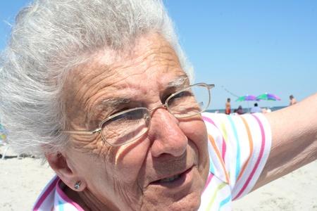 wind blown hair: Windblown Grandmother