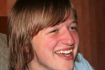 Laughing Teen Boy Closeup Stock Photo - 13398862