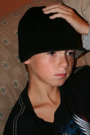 Serious Boy In Black photo