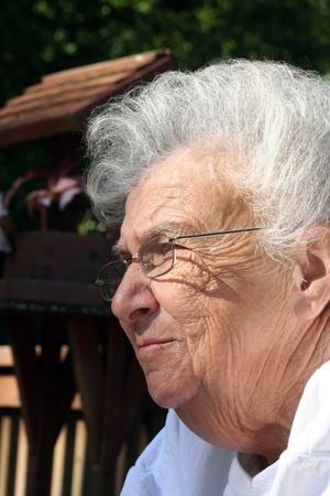 Daydreaming Senior Woman photo