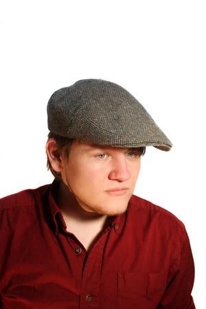 Serious Teen Boy Wearing A Flat Cap Stock Photo - 14797650