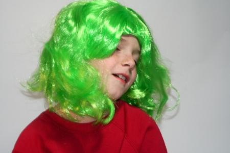 kooky: Dreamy Boy in Green Wig