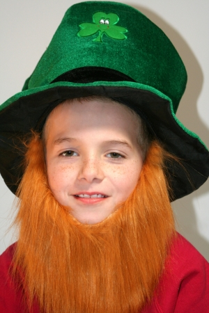 Smiling Leprechaun Boy photo