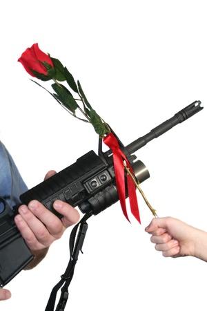 dangerous love: Adult Rifle Child Rose
