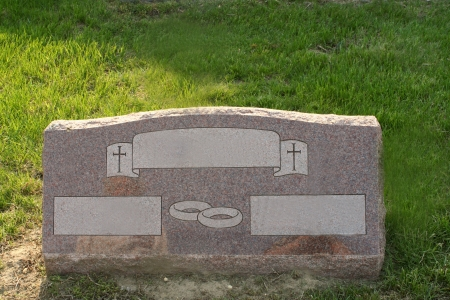 burial: Headstone for a Married Couple