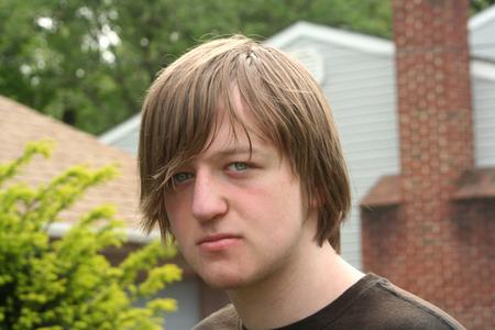 Stubborn Teen Boy Expression