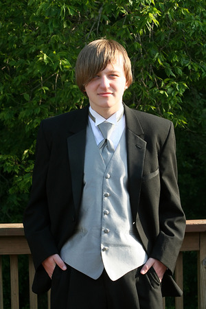 Tuxedo Teen Confident Portrait photo