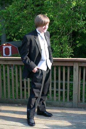 Tuxedo Teen Full Length Hands In Pockets photo