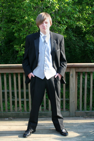 Tuxedo Teen Serious Stance photo
