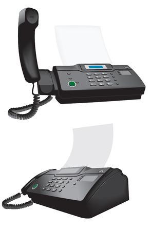 copy machine: phone fax vector